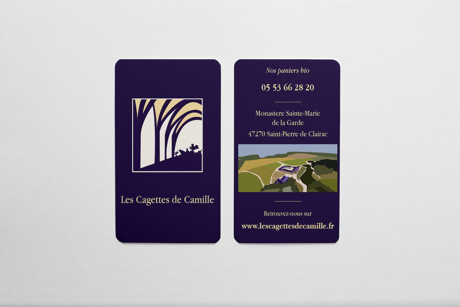 Carte de visite - Les Cagettes de Camille