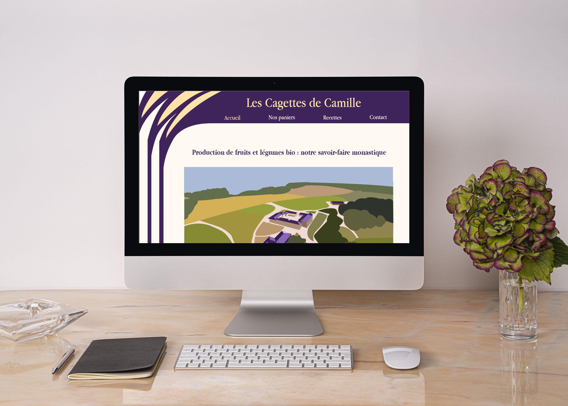 Site Les Cagettes de Camille